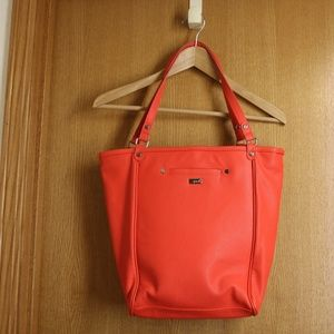 Jewell by Thirty One Coral Red Vegan Leather Bag
